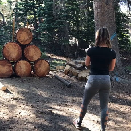 Funny – Meisha Tate's axe throwing is soo firm and robust