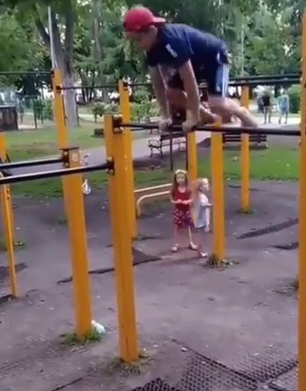 Awesome – How f**king crazy is this lil man?