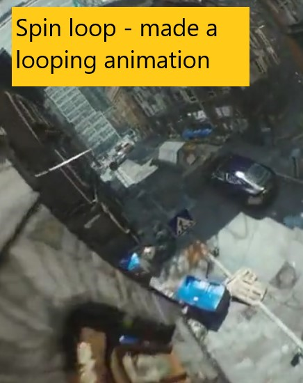 Spin loop – made a looping animation
