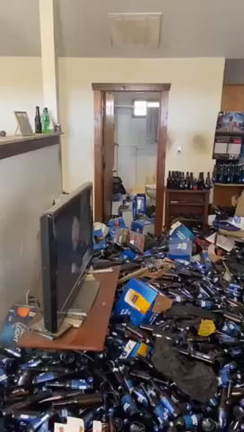 Evicted tenant left all these water bottles behind