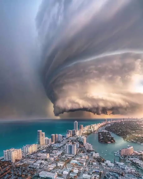 Storm clouds in the sky over Miami