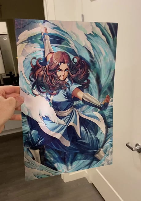My Avatar the Last Airbender 3D Lenticular Artwork … hand drawn & self produced!