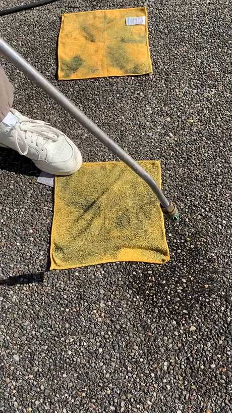 Awesome – Power washing a dirty rag